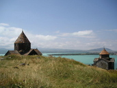 Churches by Sevan Lake