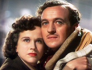 David Niven and Kim Hunter