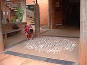 Kolam at the entrance to Solar Kitchen