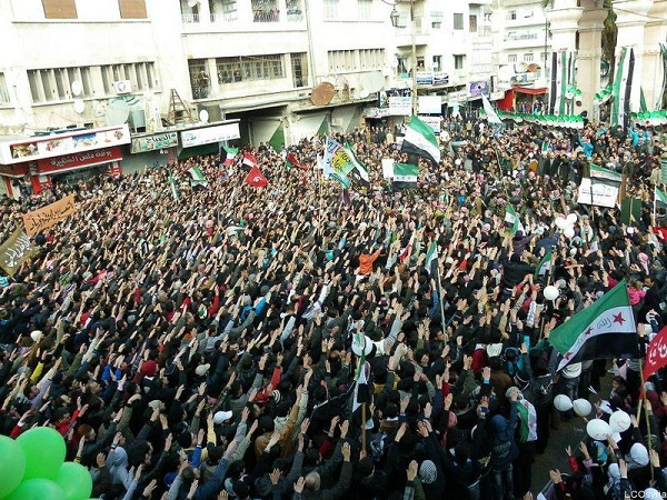 Mass Gathering in Idlib in Support of Free Syrian Army