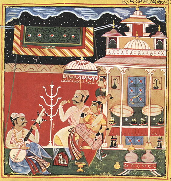 Ragamala Painting Depicting Dipak Raga