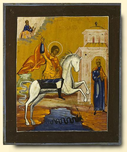 St.George and the Dragob