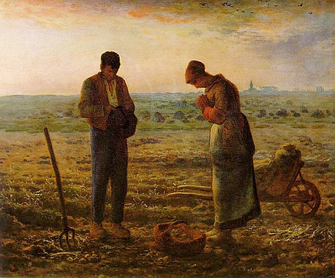 The Angelus by Millet ca 1857