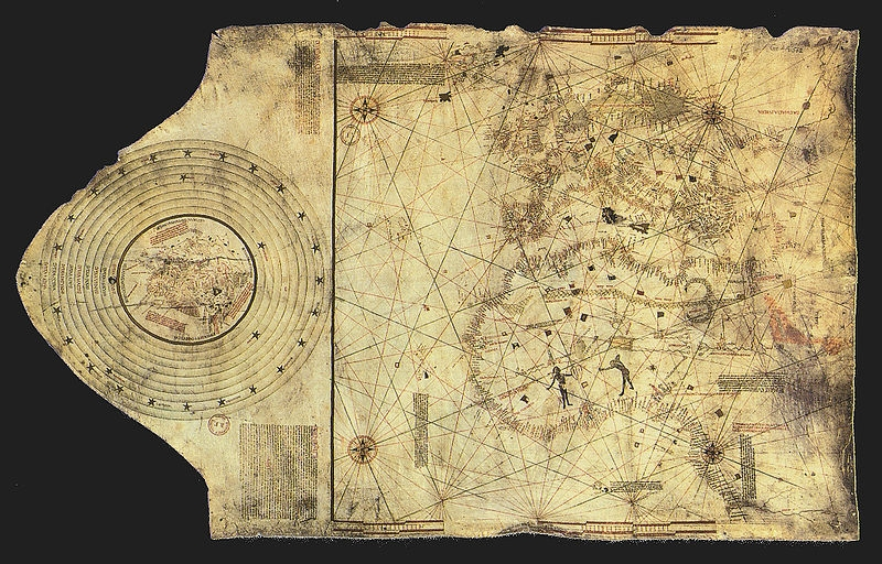 World Map drawn by Christopher Columbus